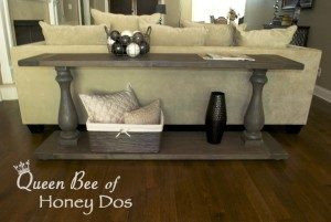 DIY Weathered Gray Console