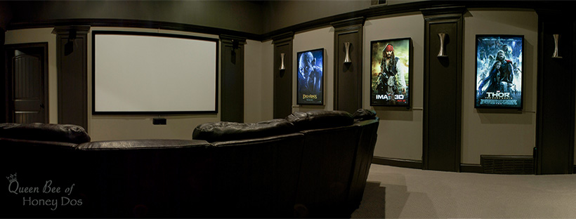 Home Theater Reveal - See this home renovation, from attic space to home theater room!
