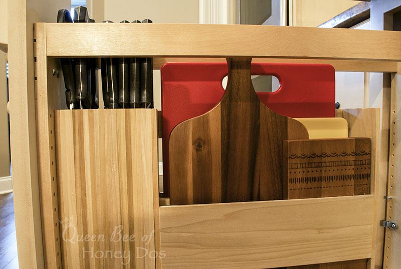 DIY knife/cutting board drawer
