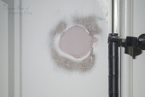 How To Repair Hollow Core Door Holes - easy DIY home improvement projects!