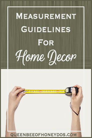 Decor Measurement Guidelines - How to get the best layout for your interior design   Decorating