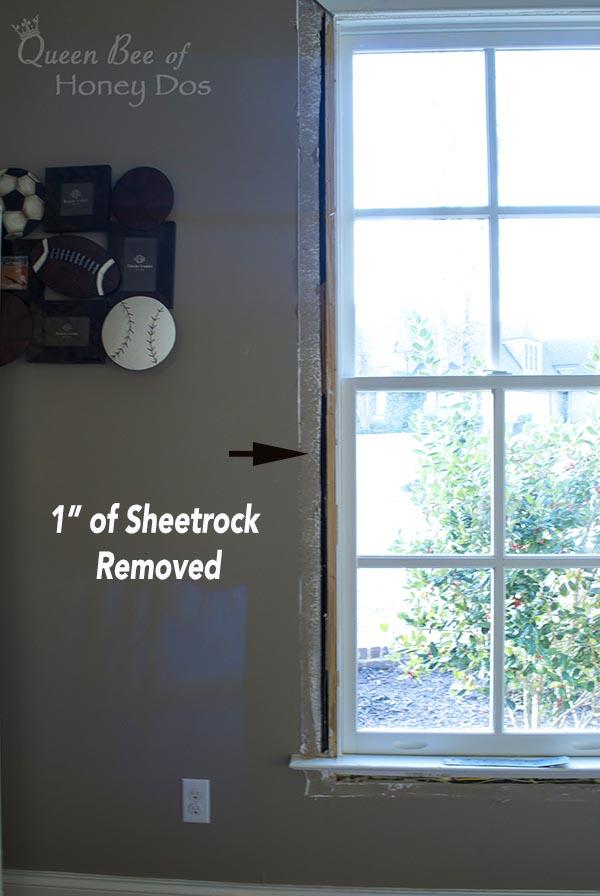 uninsulated window
