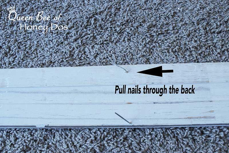 window trim with nails