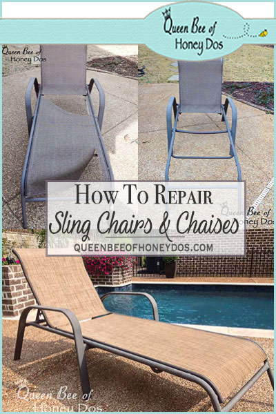 Superb How To Repair Sling Chairs Chaises Queen Bee Of Honey Dos Short Links Chair Design For Home Short Linksinfo