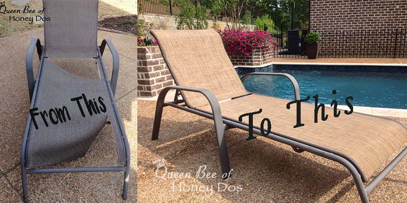 Enjoyable How To Repair Sling Chairs Chaises Queen Bee Of Honey Dos Short Links Chair Design For Home Short Linksinfo