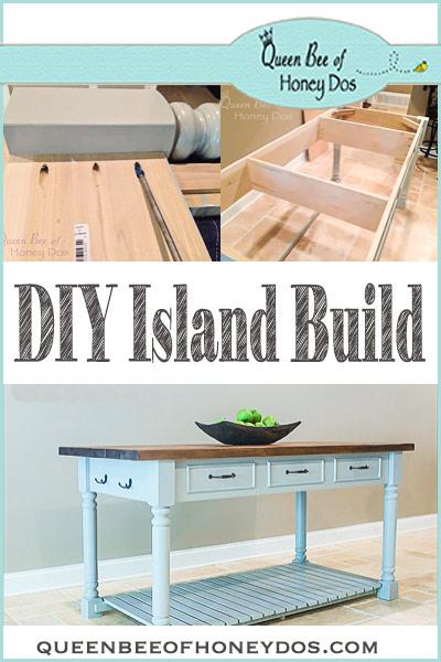 DIY Island Build - Easy DIY island with step by step instructions.