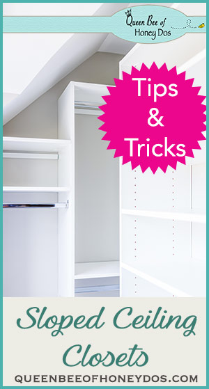 Sloped or slanted ceilings and knee walls can present problems when it comes to storage. Check out these sloped ceiling closets to find a solution!
