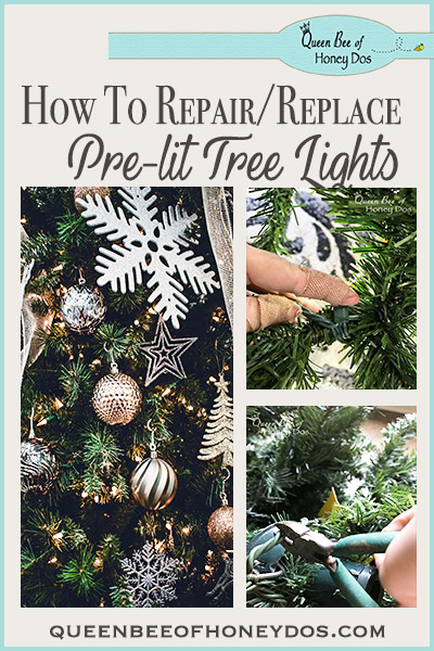 Pre-lit Christmas Tree Lights Repair/Replace - After my pre-lit Christmas tree's lights started dying, I DIYed it with this solution. Still going strong for 3yrs now.