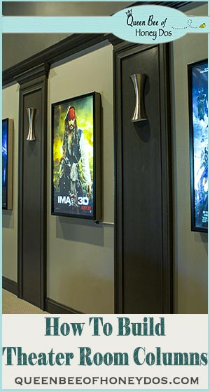 How to build columns for a theater room. Simple and easy DIY project with step by step instructions.
