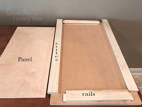 Shaker Door diagram for cabinets