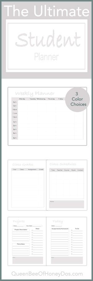 Free School Planner Printable