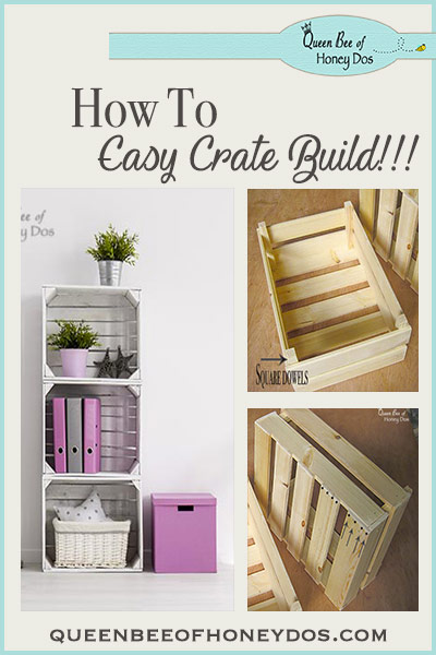 How to Build Simple Crates - a easy DIY woodworking project, perfect for the beginner! Fast home storage solution!