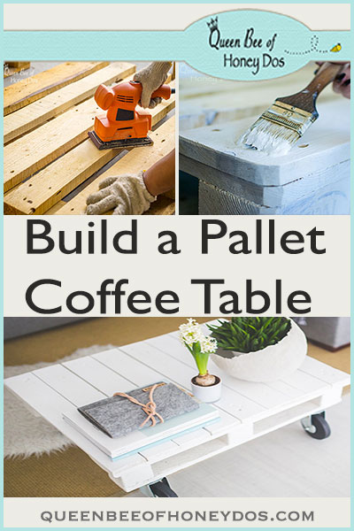 How to Make a Pallet Coffee Table - simple and easy DIY project to epicycle those old wooden pallets!
