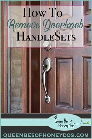 How To Remove Door Handlesets