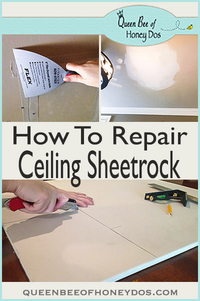 How to Repair Ceiling Sheetrock - tips and tricks for making repairs in ceiling sheetrock. Renovate and repair correctly!
