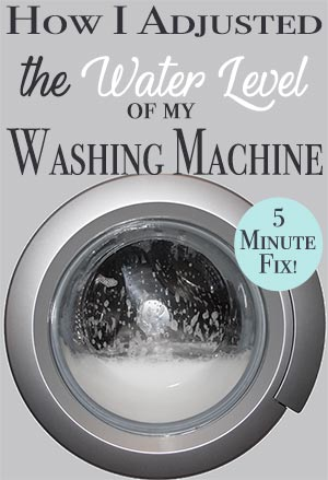 How To Adjust Washing Machine Water Levels