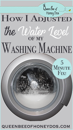 How To Adjust Washing Machine Water Levels | DIY | Cleaning