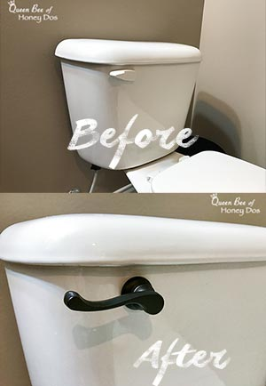 How to Upgrade Toilet Flush Levers - DIY - Bathrooms - Home Decor