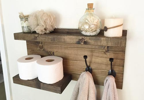 Storage and Organizing Home Products from Etsy - bathroom storage
