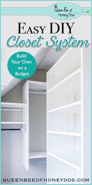 Easy DIY Closet System   custom closet   home improvement  storage solutions