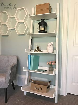 Ladder Shelf Makeover   DIY   painting   woodworking   office