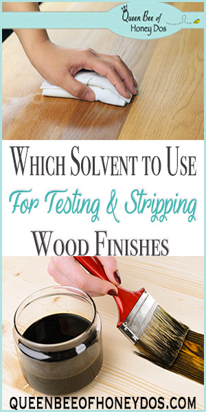 Which Solvent to Use for Testing and Stripping Wood | DIY | Woodworking | Finishes | Furniture