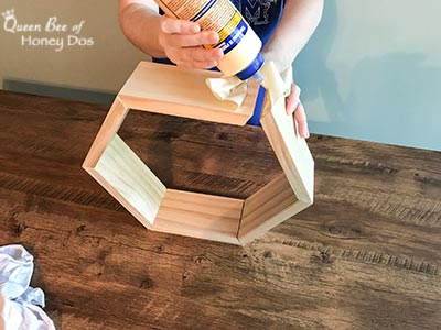 How To Build and Hang Honeycomb Shelves - DIY, woodworking projects for home decor