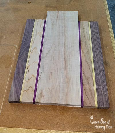 making a cutting board
