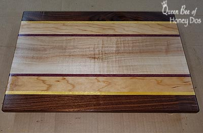 DIYed cutting board after sealing