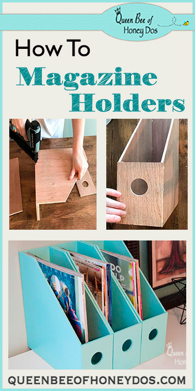 How To Make Magazine Holders - Get your office or home organized with this easy and simple to build woodworking project!
