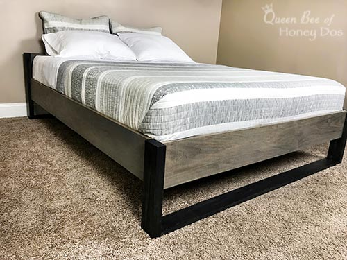 Easy DIY Modern Platform Bed - How to, woodworking project perfect for beginners.