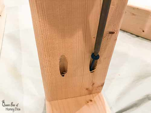 attaching boards with pocket hole screws
