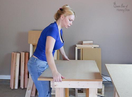 How To Build a 3-Way Convertible Workbench. #woodworking #crafttable #DIY #queenbeeofhoneydos