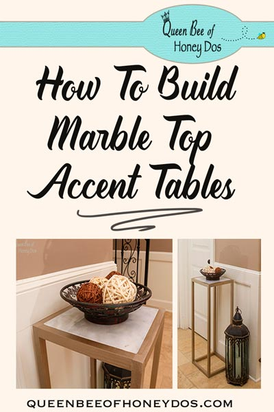 Easy Way to Make a Marble Top Table! Customize to your liking. #diy #queenbeeofhoneydos