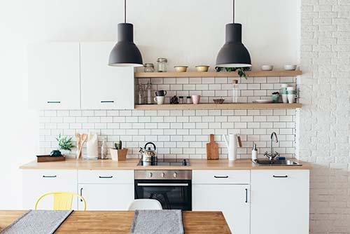 kitchen without range hood