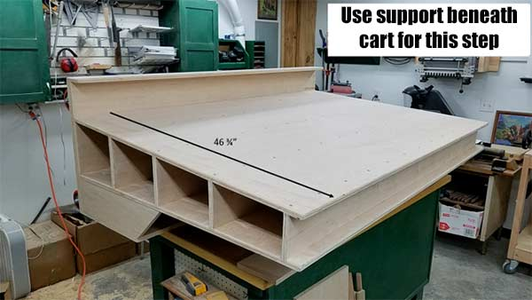 How To Build a Lumber Cart for Small Spaces - Roling Lumber Cart #woodworking #DIY #queenbeeofhoneydos