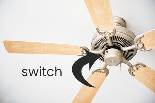 ceiling fan directional switch