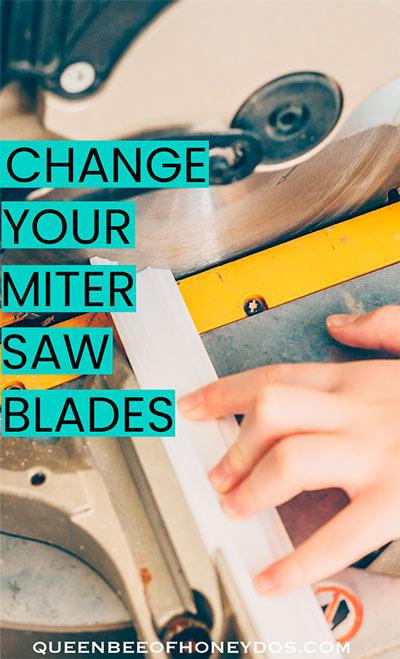 How to change dewalt miter saw blades