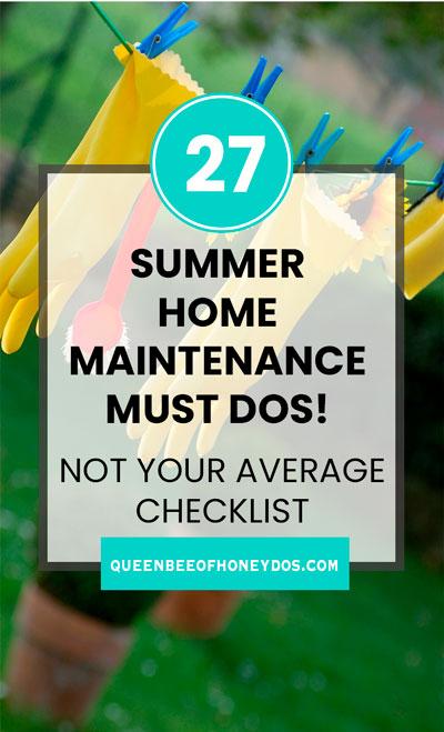 summer home maintenance must dos