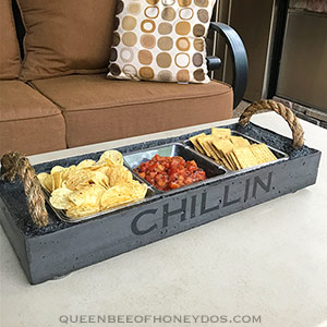 Cast Concrete Serving Tray - sectional tray
