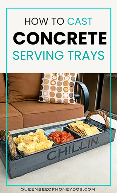 casting concrete serving trays pin