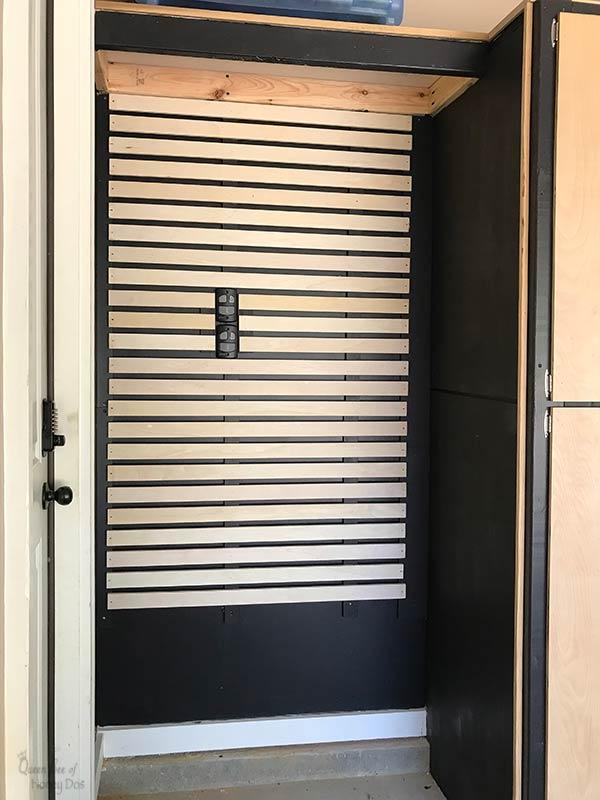 easy DIY slatwall storage