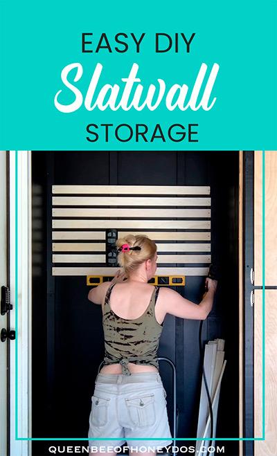 Easy DIY Mudbench Slatwall Storage