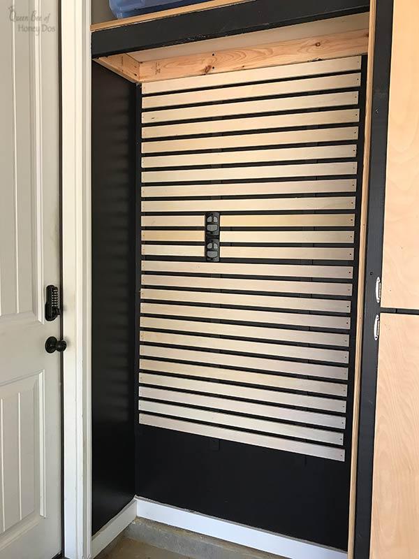 DIY slatwall storage