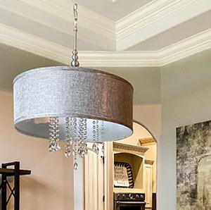 DIY crystal drum chandelier