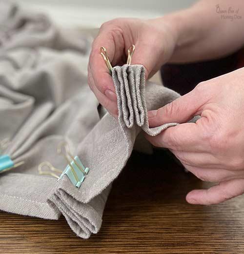 diy drop cloth pleats