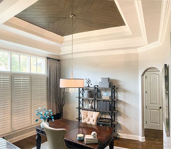 home office with view of ceiling