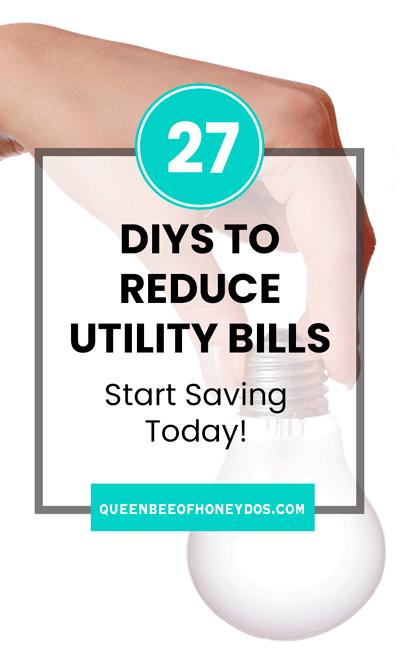 DIYs to reduce electric bill pin