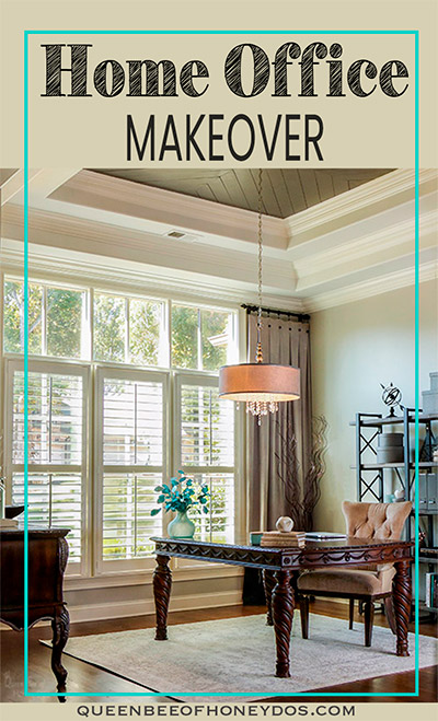home office makeover pin