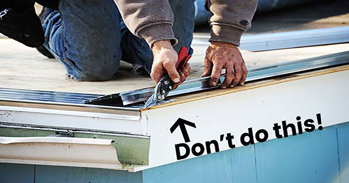How To Install Drip Edge The Proper Way